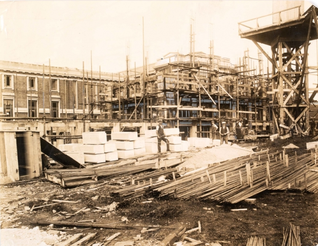 A building site, The National Library of Wales, 1911-1916 npc