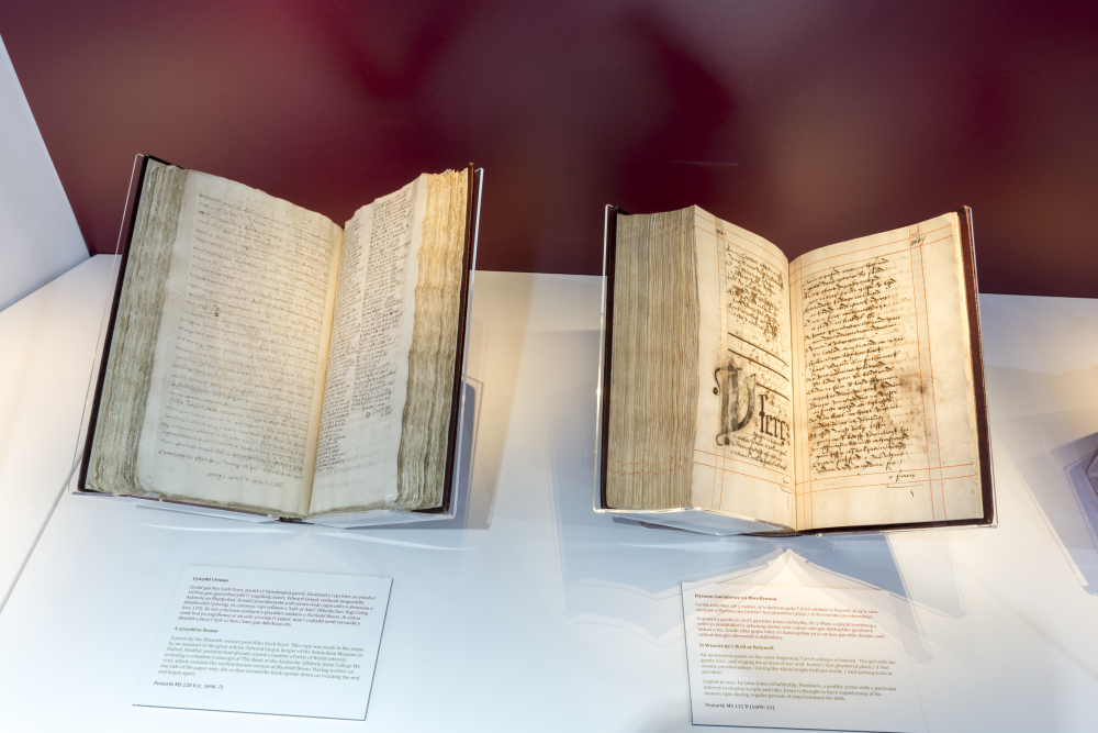 Manuscripts in the Stories of the Saints Exhibition (img © Martin Crampin)