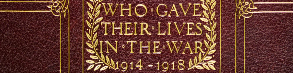 Cover of The Welsh National Book of Remembrance (© Welsh Centre for International Affairs)