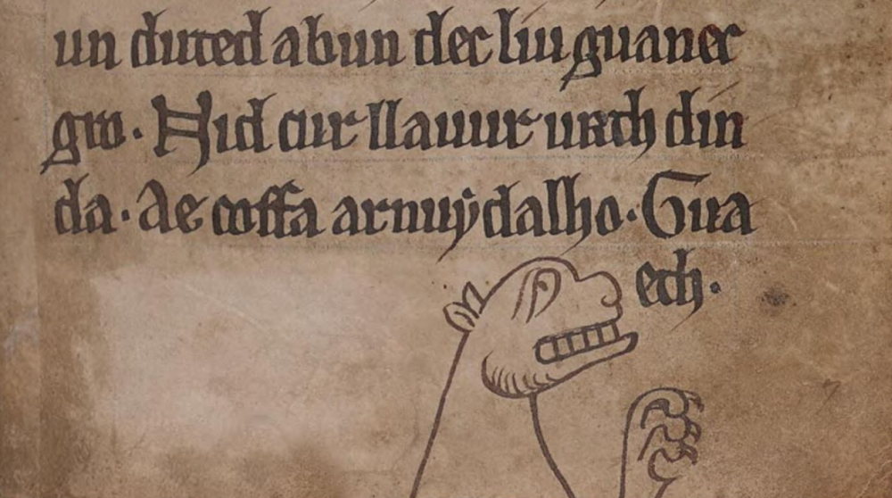 A lion, from The Black Book of Carmarthen