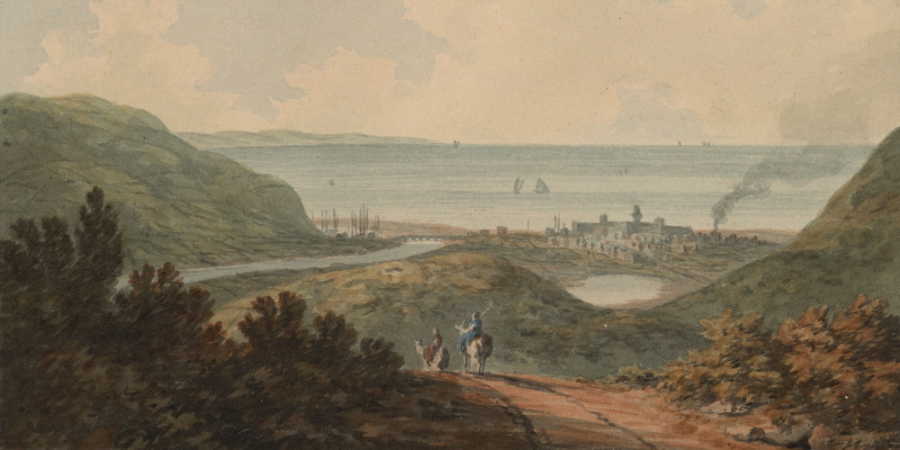 'A distant view of Aberystwyth', one of the images in the John 'Warwick' Smith Collection.