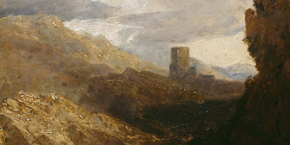Dolbadarn Castle, a detail from the oil painting by J. M. W. Turner:npc