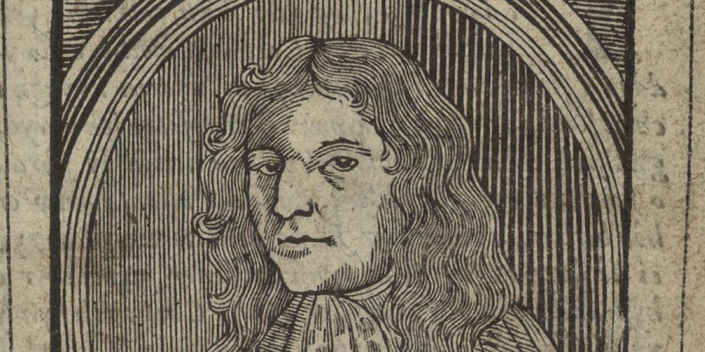 A picture of Thomas Jones on the cover of one of his almanacs.