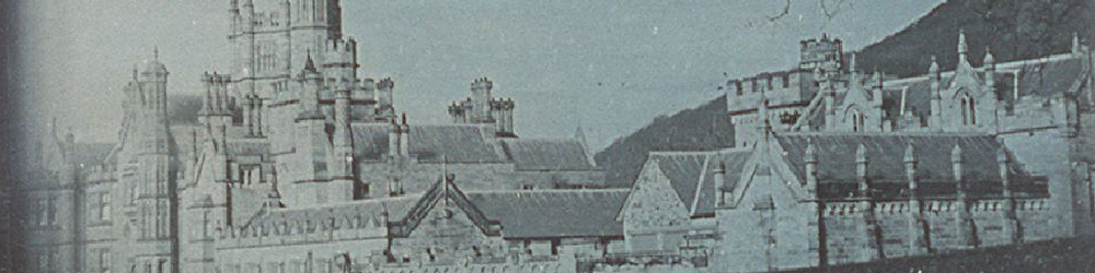 A whole-plate daguerreotype of Margam Castle by the Rev. Calvert Richard Jones on 9th March 1841.
