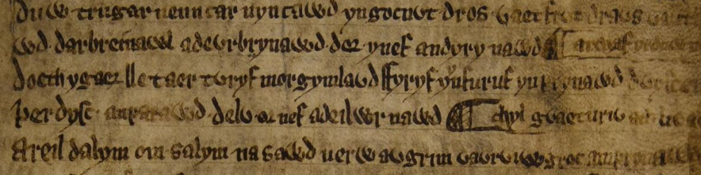 The practice of recording Welsh poetry in manuscripts began to develop during the Middle Ages.