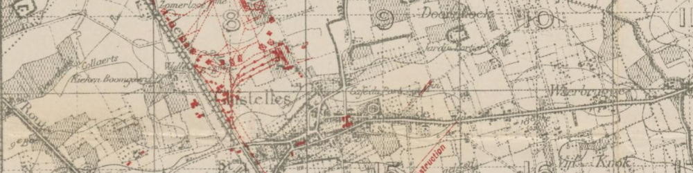 Part of a trench map from 1917.
