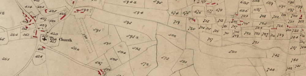 Tithe map of Pentraeth parish in the County of Anglesey, 1845