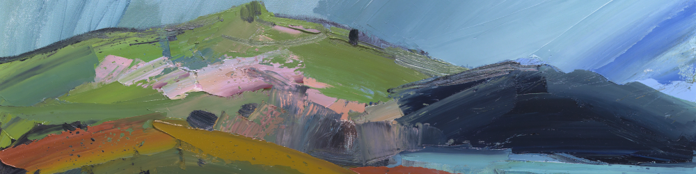 Pink Hill on the Coastal Path by Sarah Carvell (detail)